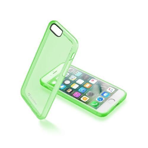 Cellularline Tok, CLEAR COLOR mobiltelefonhoz, kemény műanyag, Iphone 7, Zöld