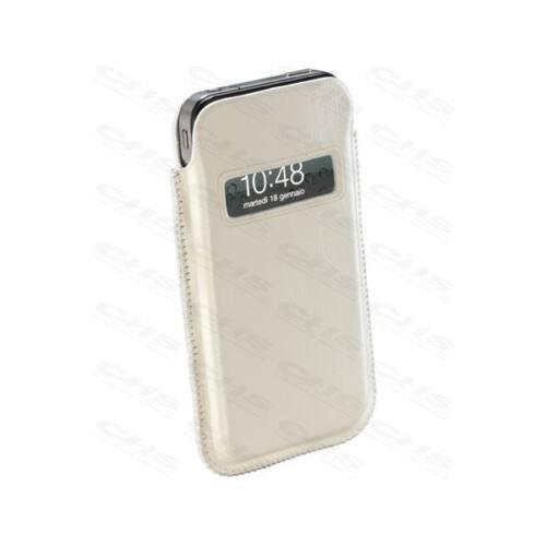 Cellularline Tok, ELEGANCE, bőr, mobiltelefonhoz, Iphone 4, fehér