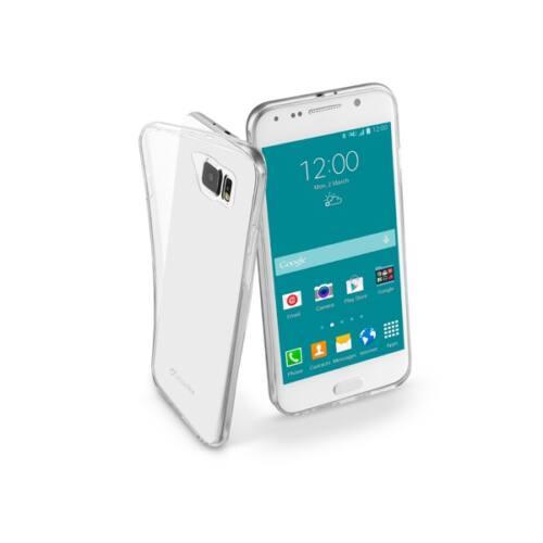 Cellularline Tok, ultravékony átlátszó gumi tok, Samsung Galaxy S6 G920