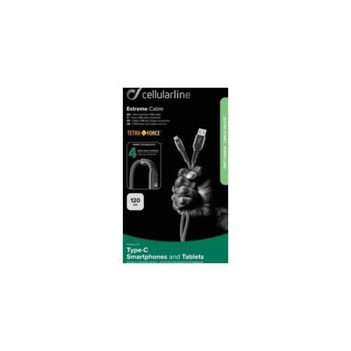 Cellularline kábel Tetraforce Extreme Cable - USB-C