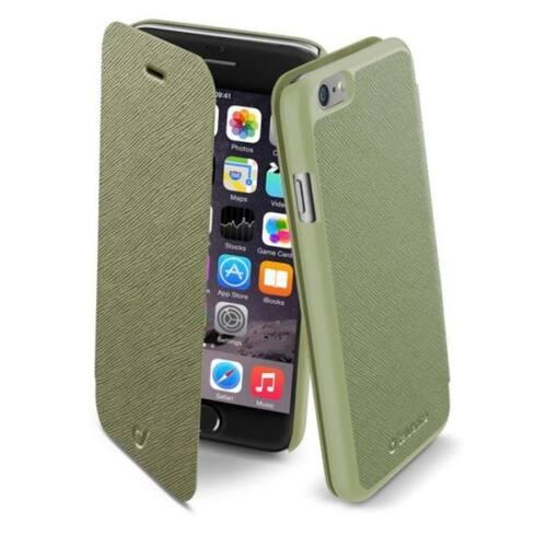 Cellularline tok, BOOK COLOR könyvszerűen nyitható tok, zöld, iPhone 6
