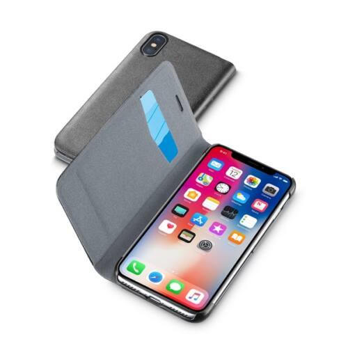 Cellularline tok, Book essential , könyvszerűen nyitható, Iphone X, fekete