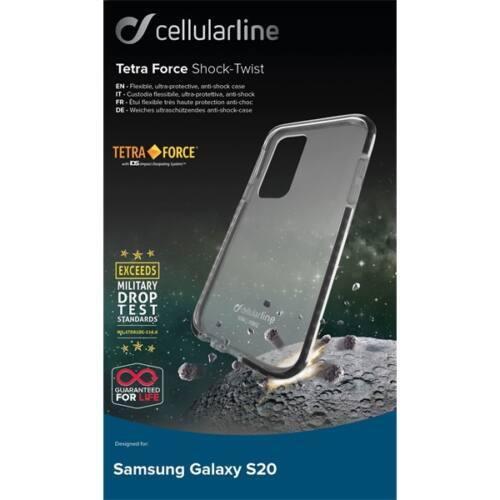 Cellularline tok, Tetraforce Shock Twist, átlátszó, ütésálló, Galaxy S20