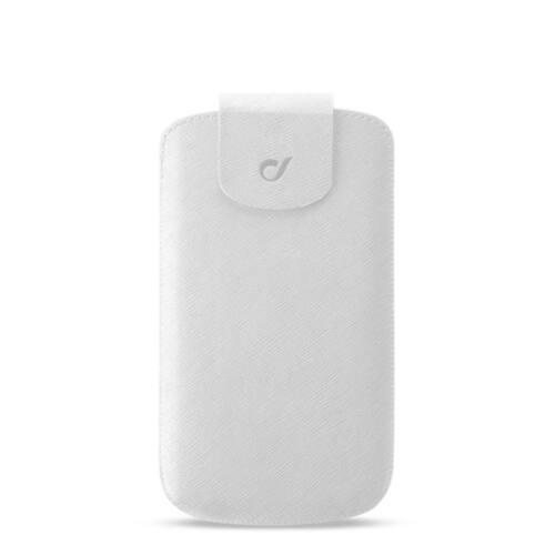 Cellularline univerzális mobiltelefon tok, PRESTIGE, XXL, fehér