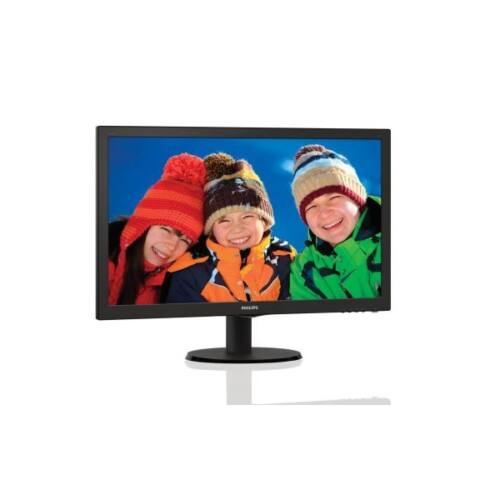 """Philips monitor 23.6"""" - 243V5LHAB/00 1920x1080, 16:9, 1000:1, 250 cd/m2, 5ms, VGA, DVI-D, HDMI, hangszóró, fekete"""