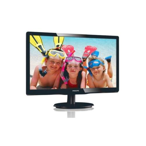 """Philips MVA monitor 19,5"""" - 200V4QSBR/00 1920x1080, 16:9, 250 cd/m2, 8ms, VGA, DVI"""