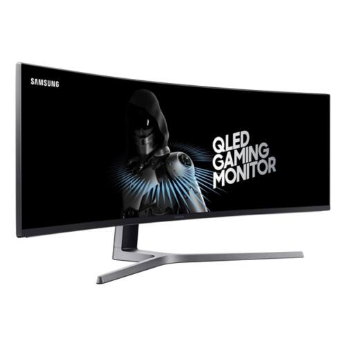 "Samsung ívelt VA LED Monitor 48,9"" LC49HG90DMUXEN, 144Hz, 3840x1080, 32:9, 3000:1, 300cd/m2, 1ms, HDMI, DisplayPort, HDR"