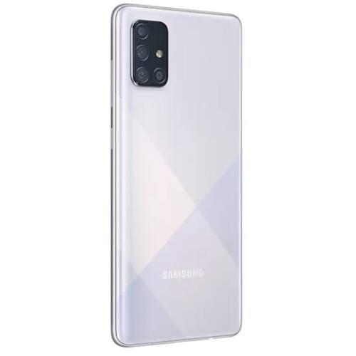 Samsung SM-A715F/DS Silver okostelefon / A71 DualSIM/ 128 GB